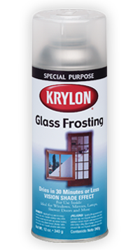 spray on frost for glass