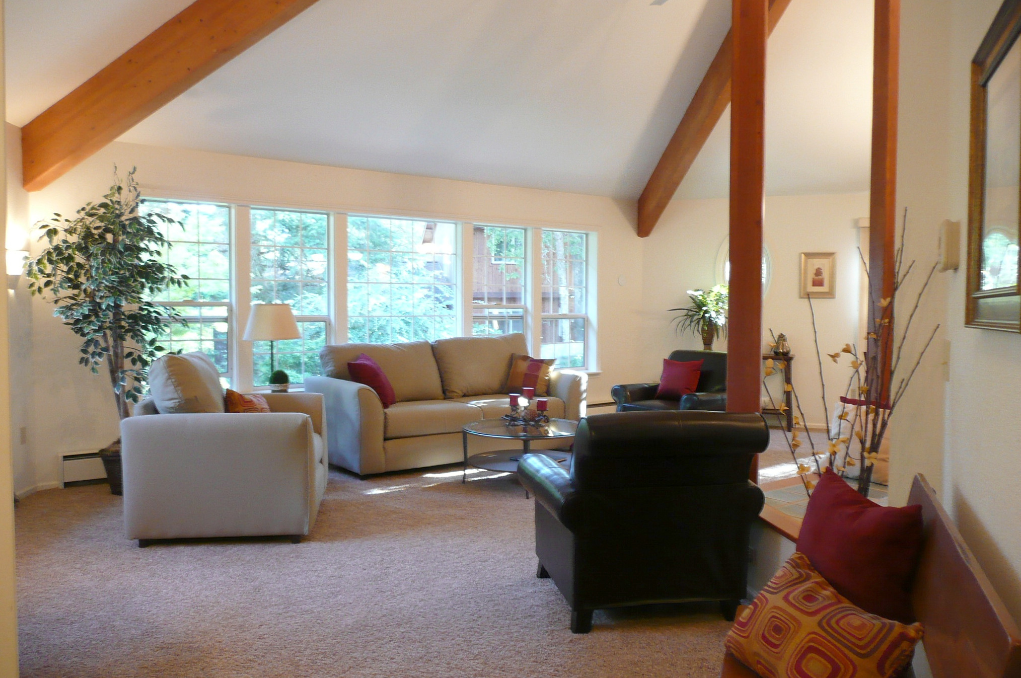 furniture helps define room sizes