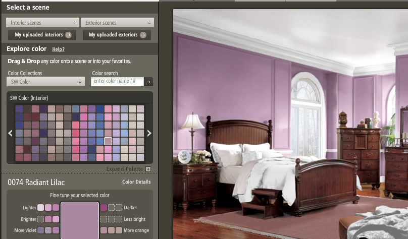 Shades Of Purple Paint painting purple – what's a great color? | home staging : creative