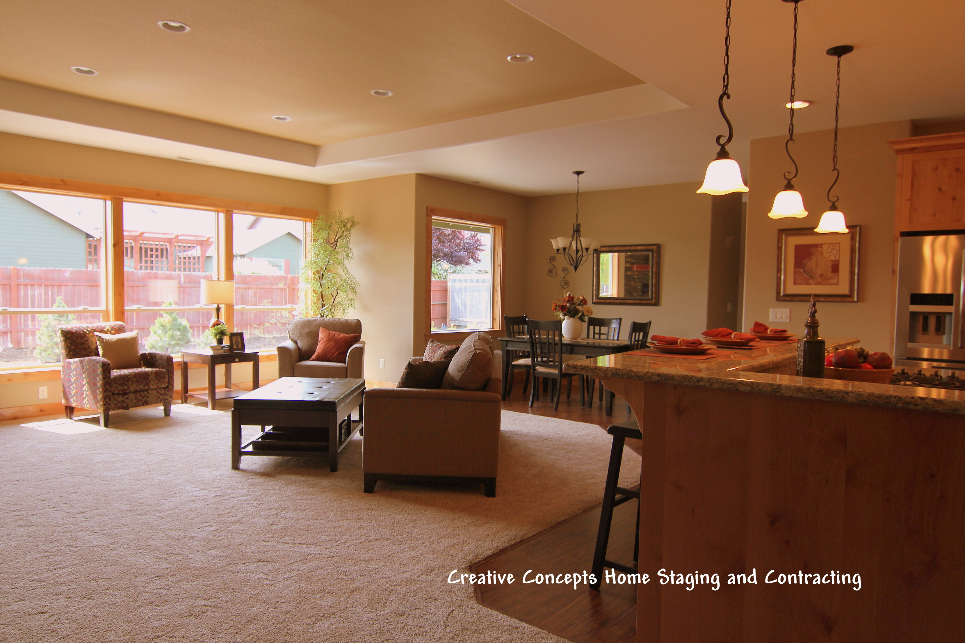 Beautiful craftsmanship accentuated with beautiful staging ...