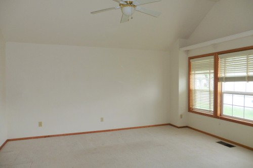 Ceiling and walls painted builder white