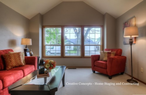 contrast paint colors for vaulted rooms