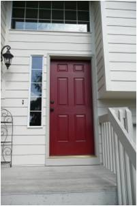 colorful door improves curb appeal