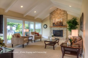 living room staged by Creative Concepts