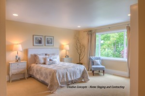 master bedroom staged example