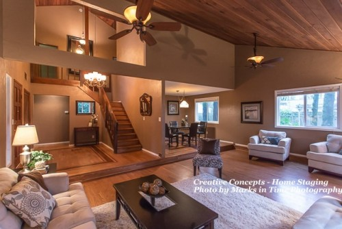 great room and entry
