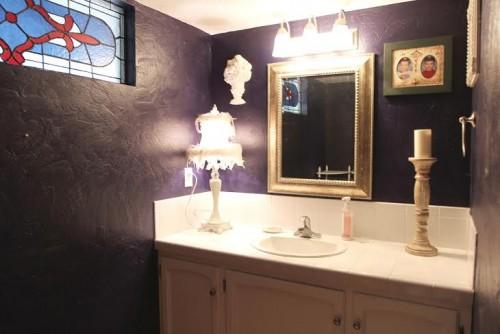 purple bath before