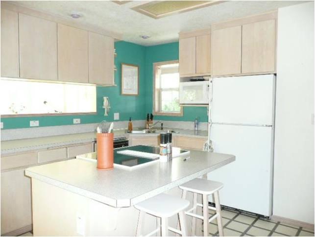 kitchen needing painting
